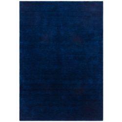 Blauw laagpolig vloerkleed