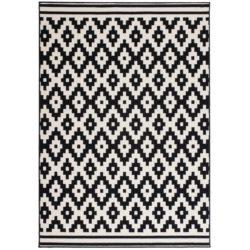 design-vloerkleed-ruit-zwart