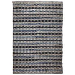 Scandinavisch vloerkleed blauw