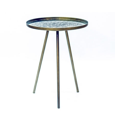 Glazen Sidetable Messing.Vintage Bijzettafel Kopen Bijzettafels Sidetables Kameraankleden Nl