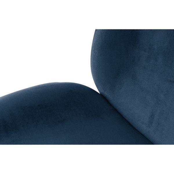 Blauwe eetkamerstoelen chroom