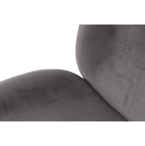 Stoel Charlotte (2 stuks) Grijs-Chroom