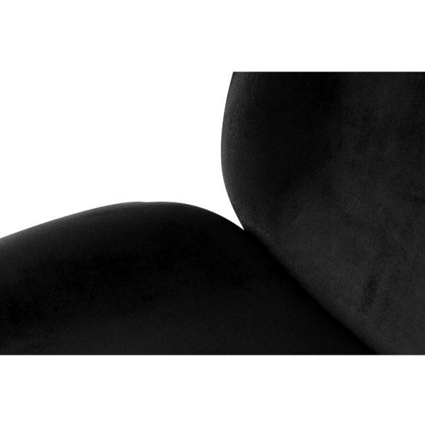 Zwarte eetkamerstoelen met messing