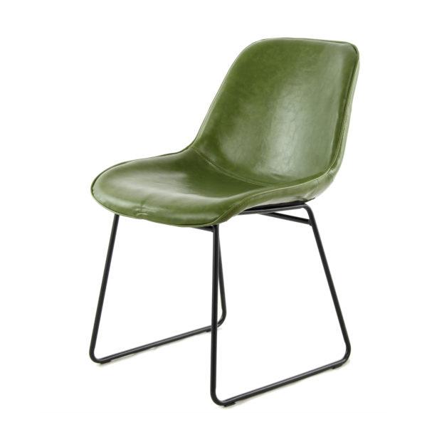 Groene-retro-eetkamerstoelen-vintage