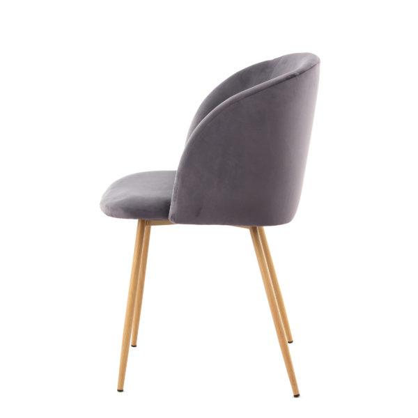 Donkergrijze stoelen