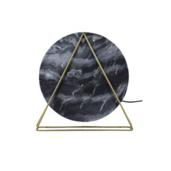Tafellamp Disk Marmer-Zwart