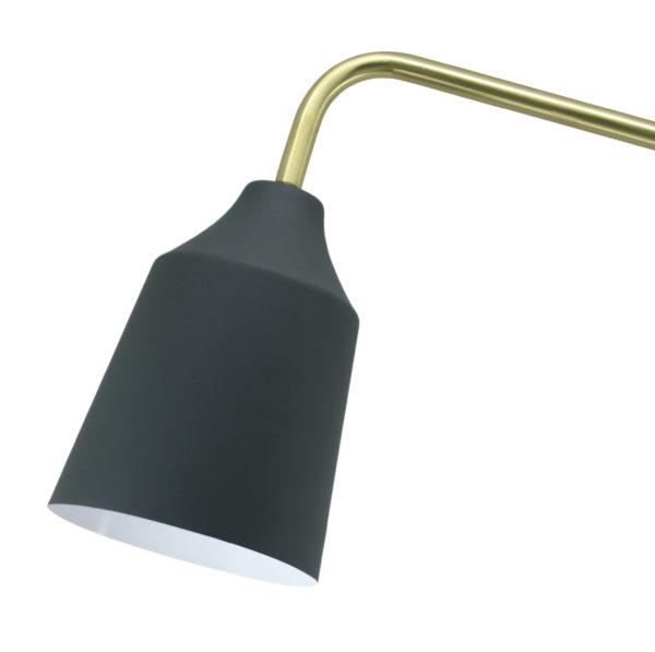 Vloerlamp Caprice Goud-Blauw