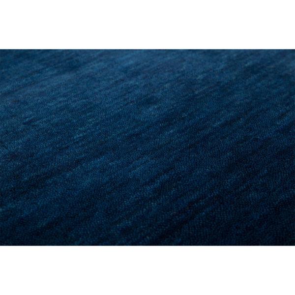 Laagpolig blauw vloerkleed