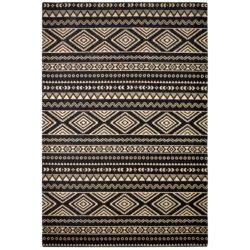 retro-tapijt-inca-zwart-beige