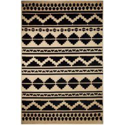 retro-vloerkleden-maya-zwart-beige
