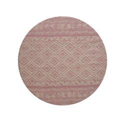 roze-rond-vloerkleed-retro