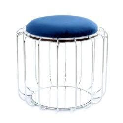 Bijzettafel Spile Blauw-Zilver