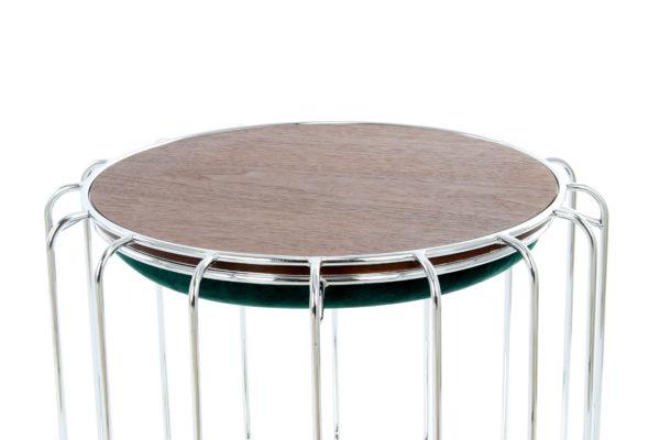 Bijzettafel Spile Groen-Zilver