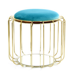 Bijzettafel Spile Turquoise-Goud
