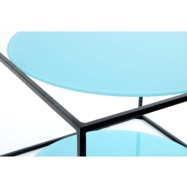 Salontafel Mira Blauw-Zwart