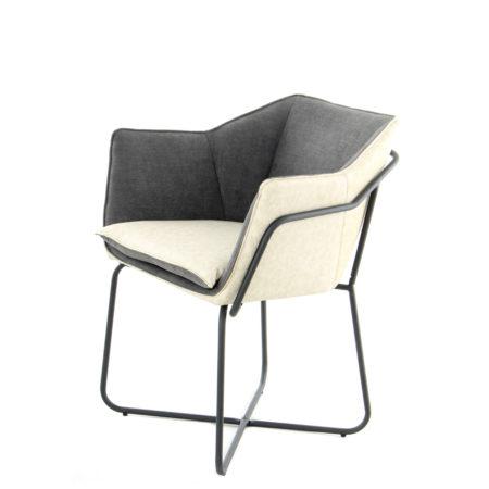 Donkergrijze design stoel Crème