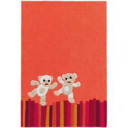 Kinderkamer-vloerkleed-Beertjes-oranje