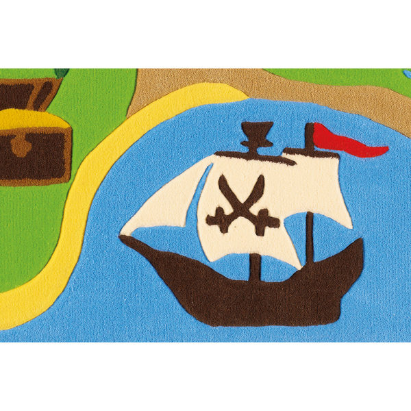 Kinderkamer vloerkleed Pirateneiland
