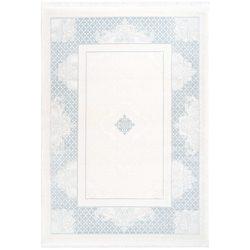 Retro blauw tapijt