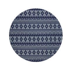 Rond vintage vloerkleed blauw