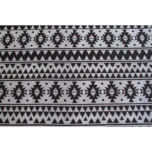 Zwart retro vloerkleed
