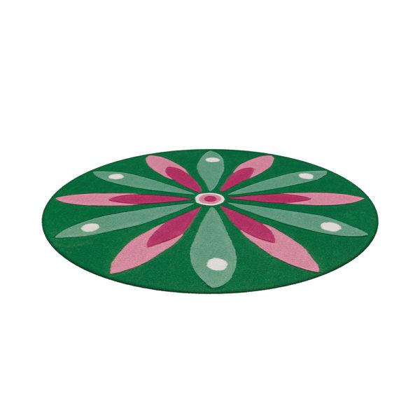 Rond kinderkleed Bloem Groen