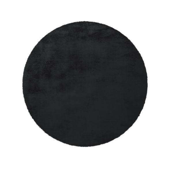 rond-zwart-hoogpolig-vloerkleed
