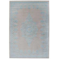 Turquoise beige vintage vloerkleed