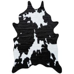 Vloerkleed-Imitatie-Koeienhuid-Zwart