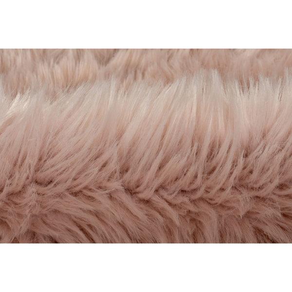 Roze schapenvacht vloerkleed