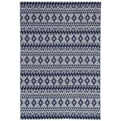 Blauw grijs retro vloerkleed