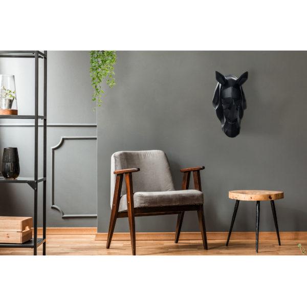 Neushoorn Zwart Wanddecoratie