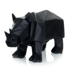 Zwart sculptuur Rhino