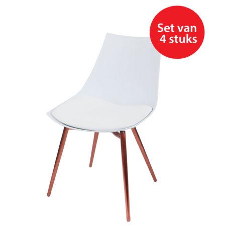 witte eetkamerstoelen met koperen poten | stoelen | kameraankleden.nl