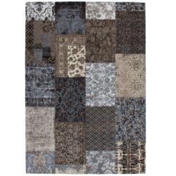 Bruin patchwork vloerkleed