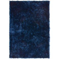Donkerblauw hoogpolig tapijt