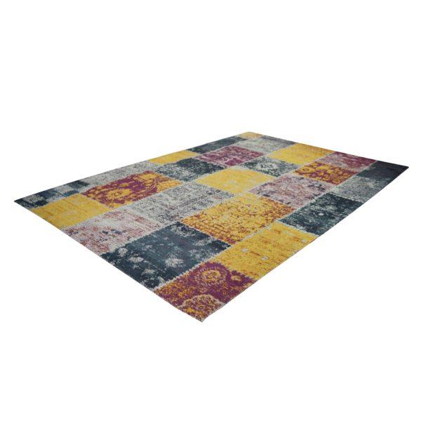 Geel patchwork karpet
