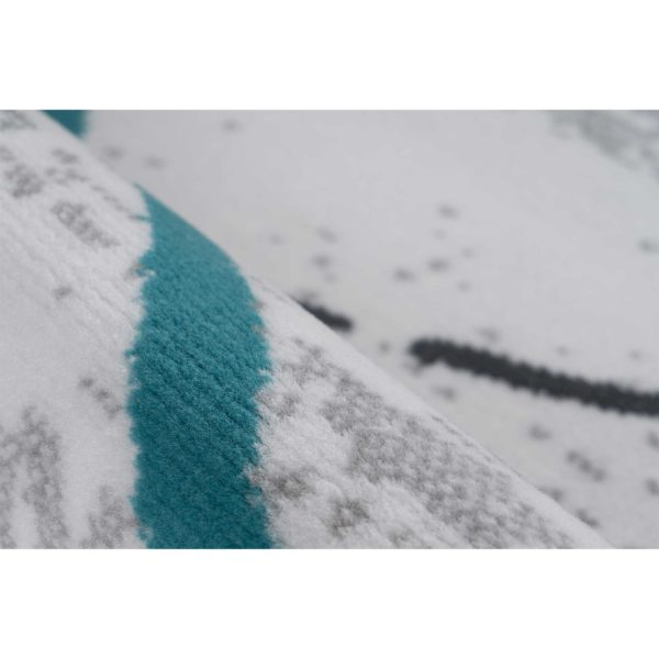 grijs blauw karpet design