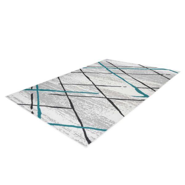 grijs blauw vloerkleed design