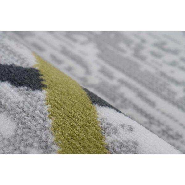 Grijs design vloerkleed khaki