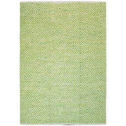 Groen design vloerkleed