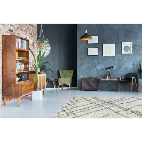 hoogpolig Scandinavisch tapijt