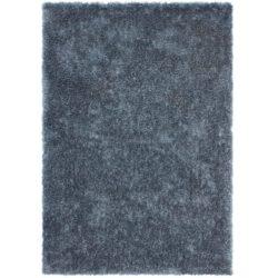 Pastelblauw hoogpolig vloerkleed