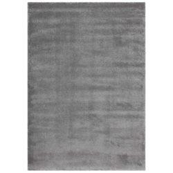 Zilver hoogpolig vloerkleed