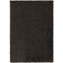 Zwart hoogpolig kleed