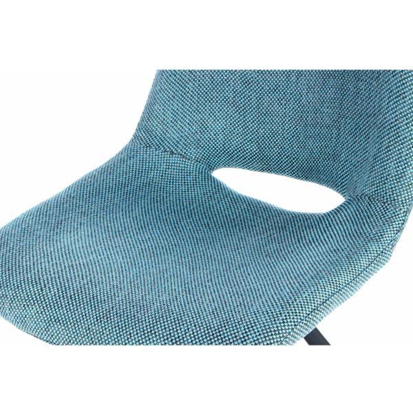 Blauwe design eetkamerstoelen