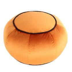 Ronde Poef Dubai Oranje