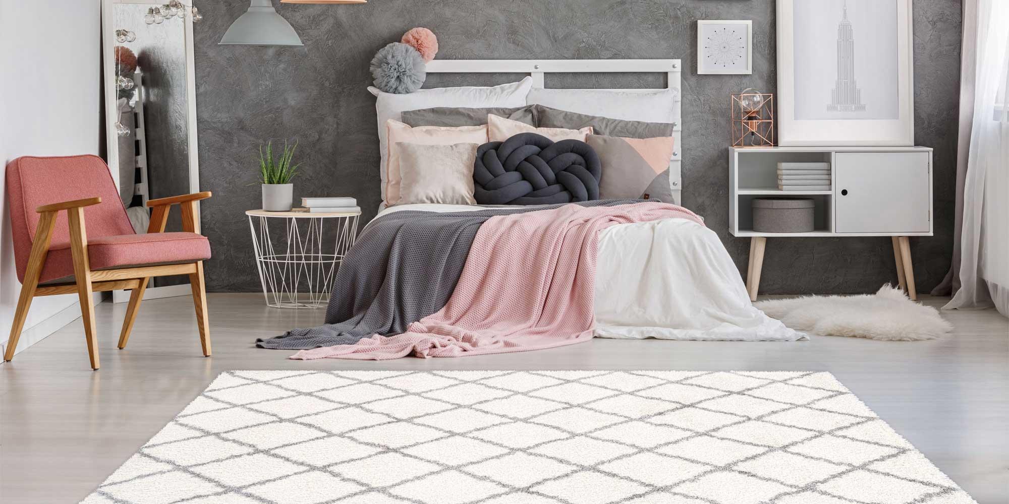 hoogpolig slaapkamer vloerkleed