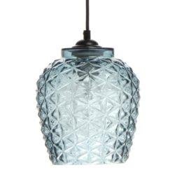 Blauwe glazen Hanglamp Villa