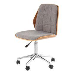 Grijze-houten-bureaustoel